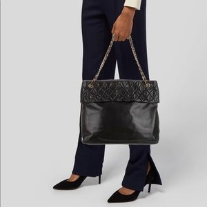 Chanel Black CC tote with gold hardware